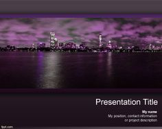 Bokeh photography free powerpoint templates by free powerpoint free city powerpoint template background is a free violet template theme for presentations toneelgroepblik Images