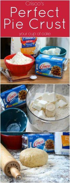 Perfect Pie Crust Recipe - Food To-Do - Torten Homemade Pie Crusts, Pie Crust Recipes, Crisco Recipes, Köstliche Desserts, Delicious Desserts, Dessert Recipes, Apple Pie Crust, Gourmet, Recipes