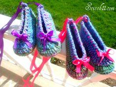 Zapatillas de ballet de ganchillo Patron ✭Teresa Restegui http://www.pinterest.com/teretegui/ ✭