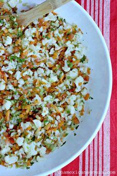 Cómo preparar Ceviche de coliflor, una opción muy rica y fresca para los viernes de Cuaresma o los Lunes sin Carne. by www.unamexicanaenusa.com
