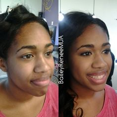 *NEW CLIENT* Both her and her mother couldn't agree on the look at first so I had to make judgment calls and in the end they loved her makeup! #ringdance #makeup #facetime #beforeandafter #shadesofbeauty #instagood #naturalbeauty #motd #beauty #757makeupartist #vamua #vamakeupartist #rva #7cities #lotd