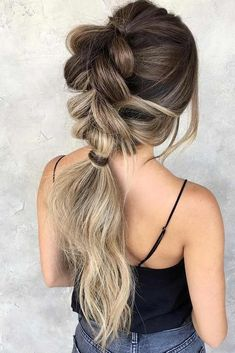 Hairstyles for Blonde Ombre Ponytail #blondehair #brunette #ombre #ponytail ❤️ Blonde ombre hair will be all the rage the following season. Get ready to go to a salon and get your hair dyed in the trendiest shades. Pick one of the options from our fresh collection. ❤️ See more: http://lovehairstyles.com/hottest-blonde-ombre-hair-color-ideas/ #lovehairstyles #hair #hairstyles #haircuts