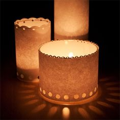 Make simple luminaries to bring a glow to your Thanksgiving table.