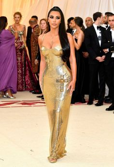 Kim Kardashian wearing Versace.