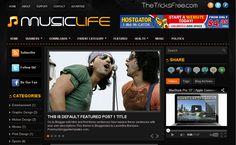 Music Life 2013 Free Blogger template - Thetricksfree