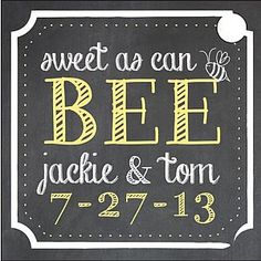 A new Sweet as Can Bee Wedding favor tag which we are now offering. It looks real nice on our 4 oz. Honey Pot favor. Lisa from Art Paper Scissors created the tag! www.artpaperscissorsdesign.com/