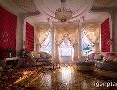 Гостиная с высокими потолками. Автор проекта: Игорь Крылов. #дизайнинтерьера #igenplan #дизайнгостиной  #интерьергостиной  #гостиные