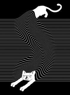 Cat under rug illustration (La vita e un altra) Knight Art, Illustration Art, Illustrations, Illusion Art, White Art, Cute Wallpapers, Pop Art, Art Drawings, Art Prints