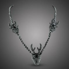 Crystal Beaded Deer Necklace  $200.00