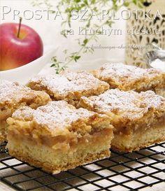 prosta szarlotka na kruchym cieście Pumpkin Cheesecake, Tortellini, Cake Cookies, Vegan Gluten Free, Apple Pie, Oreo, Feta, Vegan Recipes, Deserts
