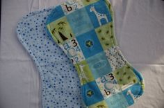 Baby boy Burp Cloths in brown with polka dots by AnnaTereDesigns, $24.00