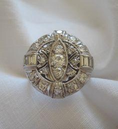 Round Art Deco Diamond Ring