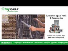 How to remove the spray system from a dishwasher, BuySpares 'how to videos'.
