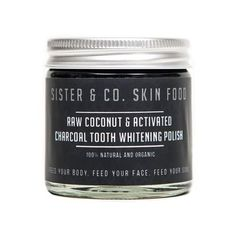 Raw Coconut & Activated Charcoal Tooth Whitening Polish,