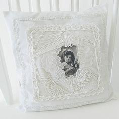 white vintage pillow . . . By saray-viola