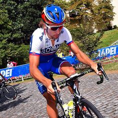 Peter Sagan tested the American cobbles in Richmond . @tdwsport