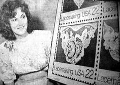 Leslie K. Saari - In 1987, her design was one of 4 pieces chosen to represent Lacemaking as part of the Folk Art Series of American Postal Stamps.