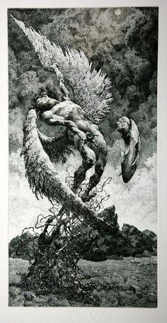 Renaissance Kunst, Arte Dark Souls, Grafik Art, Satanic Art, Arte Obscura, Occult Art, Biblical Art, Angels And Demons, Angel Art