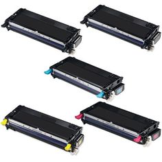 HI-VISION HI-YIELDS Compatible Toner Cartridge Replacement for Dell 3130 (2 Black, 1 Cyan, 1 Yellow, 1 Magenta, 5-Pack)