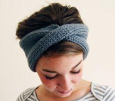 Twisted headband/ear warmer.