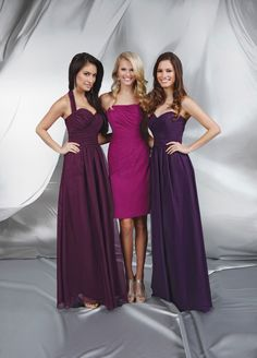 15086ece8afbc Impression Spring 2013 Bridesmaids Dresses Available at The Hope Chest  Bridal Bridesmaid Dress Styles, Eggplant