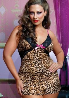 b962460e88296 Tame My Heart Microfibre leopard print mesh Chemise from Seven Til  Midnight. Chemise features lace insets and trim, hot pink details and satin  bow, ...