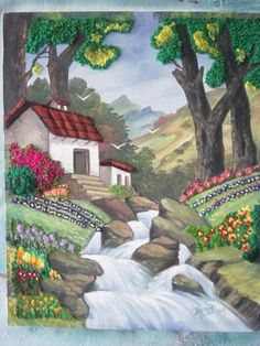 """""""The art of leadership is saying no, not saying yes. It is very easy to say yes. Landscape Quilts, Landscape Art, Landscape Paintings, Scenery Paintings, Eagle Art, Oil Pastel Drawings, Art Drawings For Kids, Thread Art, Embroidery Art"""
