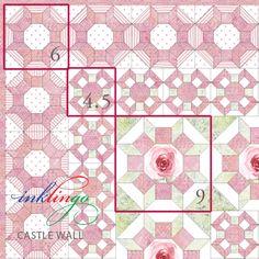 Inklingo Castle Wall Quilt - 3 sizes
