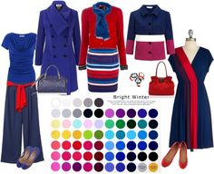 """Bright Winter - Experimenting"" by lizzycb on Polyvore"