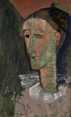 Amedeo Modigliani (1884-1920) • Selvportræt som Pierrot, 1915