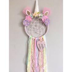 Personalizado atrapasueños unicornio con añadido