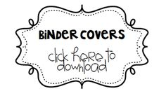 binder covers (free and editable!)