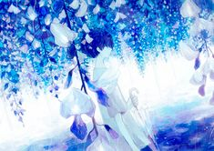 Find images and videos about art, blue and anime on We Heart It - the app to get lost in what you love. Art Anime, Anime Kunst, Anime Artwork, Manga Art, Manga Anime, Anime Galaxy, Anime Scenery, Boy Art, Anime Style
