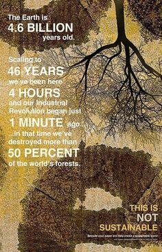 Not sustainable. #truth #sustainability