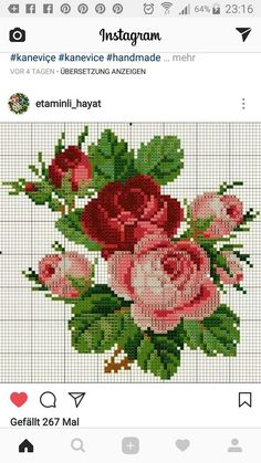 Somephoto Exciting Guidelines For Cross Stitch Rose, Beaded Cross Stitch, Cross Stitch Borders, Cross Stitch Flowers, Cross Stitch Designs, Cross Stitching, Cross Stitch Embroidery, Hand Embroidery, Cross Stitch Patterns