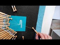 011 Encaje de Hinojosa - Punto Zurcido Liso - Enganchillado - YouTube
