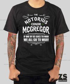 Camiseta de Conor Mcgregor - The Notorius Mcgregor de ZonaShirt en Etsy