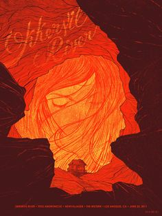 Gig poster for Okkervil River by Kevin Tong