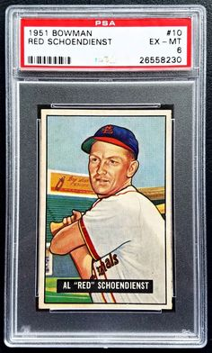1951 Bowman #10 Red Schoendienst PSA 6 EX-MT Cardinals Baseball Card HOF | Sports Mem, Cards & Fan Shop, Sports Trading Cards, Baseball Cards | eBay!
