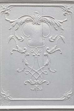 white embellished panel Monschau