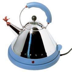 Discover the Alessi Electric Bird Kettle - Blue at Amara #amarawishlist