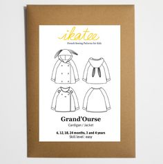 aa211d80f1369 Grand Ourse cardigan - Baby 6M 4Y - Paper Sewing Pattern – Ikatee Lining