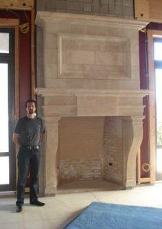 Foam core Stone Fireplace Surrounds   Living room   Pinterest ...