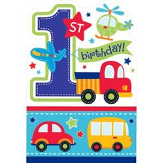 All Aboard 1st Birthday Invitations 8ct - Party City