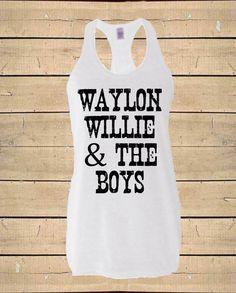 034424410e7956 Waylon Willie   The Boys Tank. Country Shirt