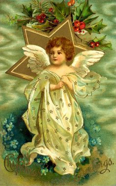 Vintage Angels - Angels - Vintages Cards - Christmas Wallpapers, Free ClipArt for Xmas, Icon's, Web Element, Victorian Christmas Photos and Vintage Santa Claus pictures Vintage Christmas Images, Victorian Christmas, Christmas Pictures, Christmas Angels, Christmas Art, Christmas Greetings, Christmas Postcards, Christmas Holidays, Xmas