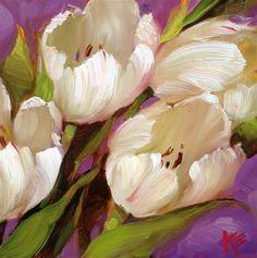 White on Purple - Original Fine Art for Sale - © by Krista Eaton