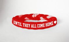 Red Friday Custom Military Support Bracelet, Until they all come home- even though garrett is out, i feel i require this. Marine Sister, Navy Sister, Navy Mom, Navy Wife, National Guard Girlfriend, Wife And Girlfriend, Air Force Mom, Red Friday, Military Wife