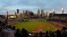Small Panarama of PNC park when the sun is starting to go down. (No filter)