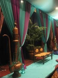 Arabian Nights theme decor- use something like this behind food tables and/or voting area